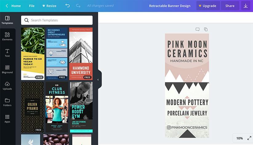 Design a Professional Retractable Pop-Up Banner Using Canva